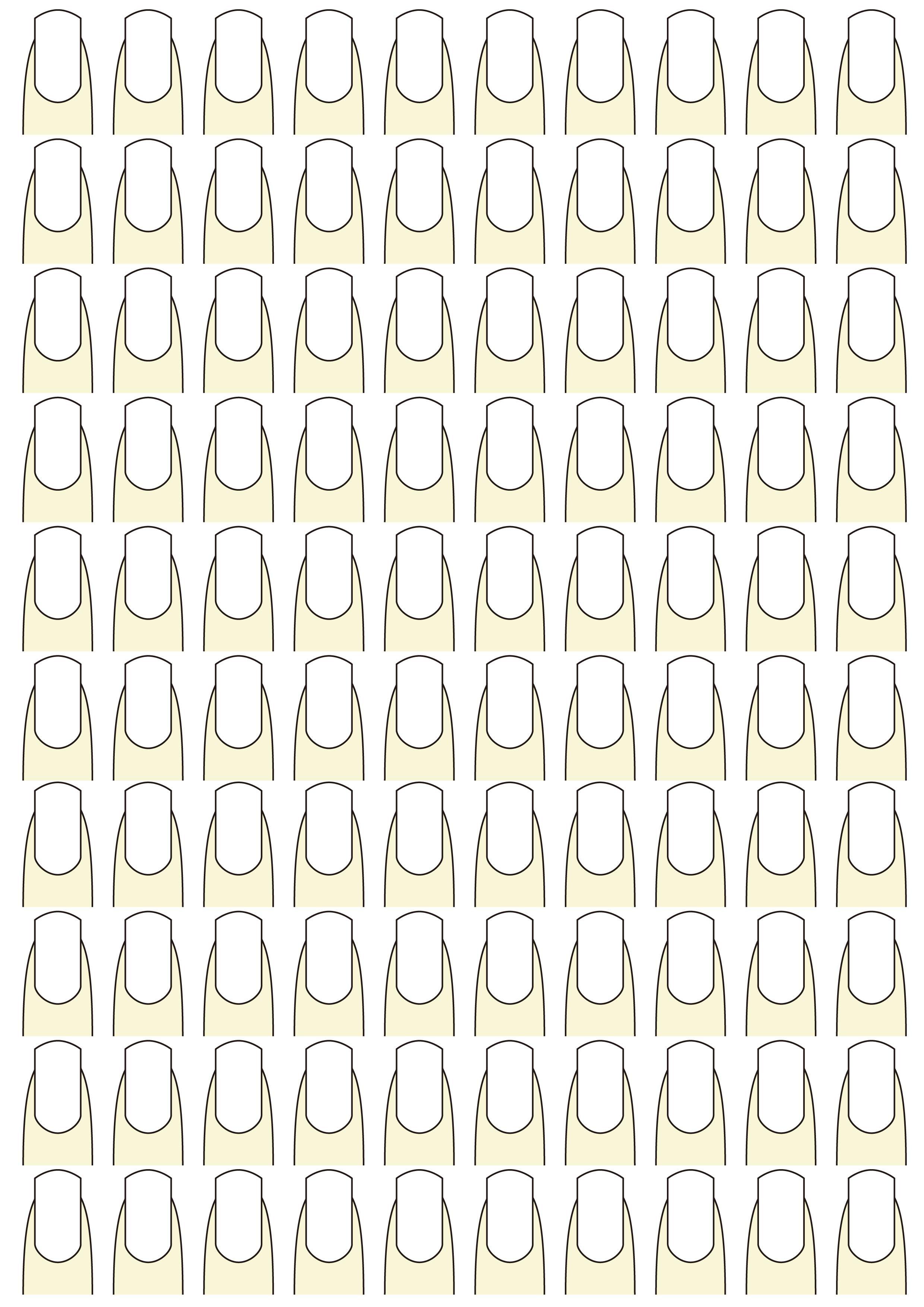 ネイルアート練習シート作りました:独学でネイリストになった